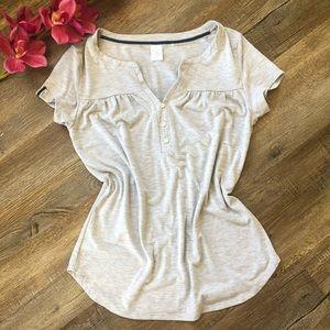 Liz Claiborne Gray blouse